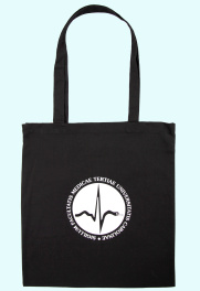 Black cotton tote bag, 100% cotton